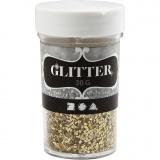 Glitter, Gold, Größe 1-3 mm, 30 g/ 1 Dose