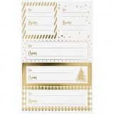 Notiz-Sticker, Gold, Weiß, 9x14 cm, Größe 42x39+84x29 mm, 4 Bl./ 1 Pck.