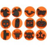 Moosgummi-Stempel, Halloween, D: 7,5 cm, dicke 2,5 cm, 6 Stck./ 1 Pck.