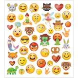 Sticker, Emojis, 15x16,5 cm, 1 Bl.