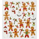 Sticker, Cookie-Figuren, 15x16,5 cm, 1 Bl.