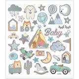 Sticker, Baby Boy, 15x16,5 cm, 1 Bl.