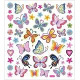 Sticker, Bunte Schmetterlinge, 15x16,5 cm, 1 Bl.