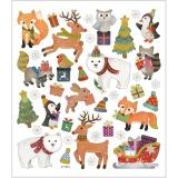 Sticker mit weihnachtlichen Tiermotiven, 1 Bl.