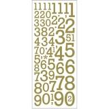 Glitzer-Sticker, Gold, Zahlen, 10x24 cm, 2 Bl./ 1 Pck.