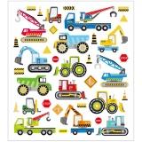 Sticker, Baustellenfahrzeuge, 15x16,5 cm, 1 Bl.