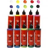 3D Liner - Sortiment, Sortierte Farben, 10x100 ml/ 1 Pck.
