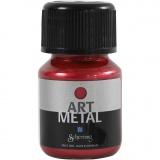 Art Metal Farbe, Lava-Rot, 30 ml/ 1 Fl.