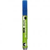 Glas-/Porzellanmalstift, Blau, Glitter, Strichstärke 2-4 mm, Halbdeckend, 1 Stck.