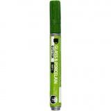 Glas-/Porzellanmalstift, Hellgrün, Glitter, Strichstärke 2-4 mm, Halbdeckend, 1 Stck.
