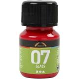 A-Color Glas-/Porzellanfarbe, Rot, 30 ml/ 1 Fl.