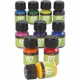 A-Color Glas-/Porzellanfarbe, Sortierte Farben, 10x30 ml/ 1 Pck.