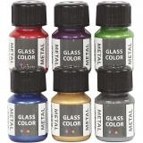 Glass Color Metal, Sortierte Farben, 6x30 ml/ 1 Pck.