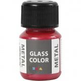 Glass Color Metal, Rot, 30 ml/ 1 Fl.