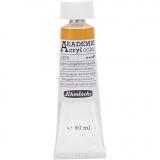Schmincke AKADEMIE® Acrylfarbe, Kadmiumgelbton dunkel (228), Halbtransparent, 60 ml/ 1 Fl.