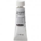 Schmincke AKADEMIE® Acrylfarbe, Fluoreszierend Weiß (840), Halbtransparent, 60 ml/ 1 Fl.