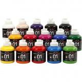A-Color Acrylfarbe , Sortierte Farben, Glänzend, 15x500 ml/ 1 Box