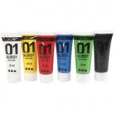 A-Color Acrylfarbe , Standard-Farben, Glänzend, 6x20 ml/ 1 Pck.