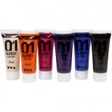 A-Color Acrylfarbe , Zusätzliche Farben, Glänzend, 6x20 ml/ 1 Pck