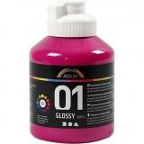 A-Color Acrylfarbe , Pink, Glänzend, 500 ml/ 1 Fl.