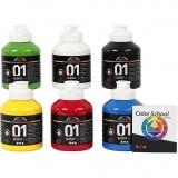 A-Color Acrylfarbe , Primärfarben, Glänzend, 6x500 ml/ 1 Pck.