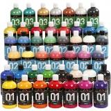 A-Color Acrylfarbe, Sortierte Farben, 45x500 ml/ 1 Pck.