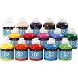 A-Color Acrylfarbe, Sortierte Farben, Matt, 15x500 ml/ 1 Box