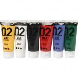 A-Color Acrylfarbe, Standard-Farben, Matt, 6x20 ml/ 1 Pck.
