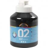 A-Color Acrylfarbe, Schwarz, Matt, 500 ml/ 1 Fl.