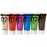 A-Color Acrylfarbe, Zusätzliche Farben, Matt, 6x20 ml/ 1 Pck.