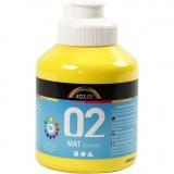 A-Color Acrylfarbe, Primärgelb, Matt, 500 ml/ 1 Fl.