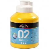 A-Color Acrylfarbe, Gelb, Matt, 500 ml/ 1 Fl.