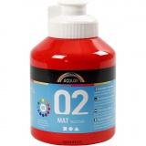 A-Color Acrylfarbe, Rot, Matt, 500 ml/ 1 Fl.
