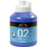 A-Color Acrylfarbe, Blau, Matt, 500 ml/ 1 Fl.