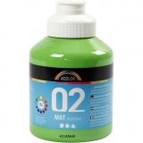 A-Color Acrylfarbe, Hellgrün, Matt, 500 ml/ 1 Fl.