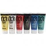 A-Color Acrylfarbe, Standard-Farben, Metallisch , 6x20 ml/ 1 Pck.