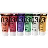 A-Color Acrylfarbe, Zusätzliche Farben, Metallisch , 6x20 ml/ 1 Pck.