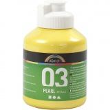 A-Color Acrylfarbe, Gelb, Metallisch , 500 ml/ 1 Fl.
