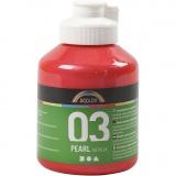 A-Color Acrylfarbe, Rot, Metallisch , 500 ml/ 1 Fl.