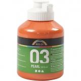 A-Color Acrylfarbe, Orange, Metallisch , 500 ml/ 1 Fl.