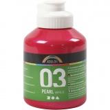 A-Color Acrylfarbe, Pink, Metallisch , 500 ml/ 1 Fl.