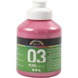A-Color Acrylfarbe, Rosa, Metallisch , 500 ml/ 1 Fl.