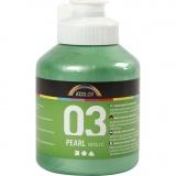 A-Color Acrylfarbe, Hellgrün, Metallisch , 500 ml/ 1 Fl.