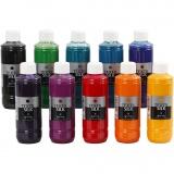 Textilfarbe für Seide - Sortiment , 10x250 ml/ 1 Pck.
