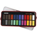 Aquarell-Farbset, Sortierte Farben, Größe 12x30 mm, 24 Farbe/ 1 Pck.