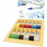 SOLO GOYA Aqua Paint Marker-Sets, Sortierte Farben, 12x6 Stck./ 1 Pck.