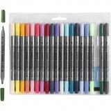 Stoffmalstifte, Zusätzliche Farben, Strichstärke 2,3+3,6 mm, 20 Stck./ 1 Pck.
