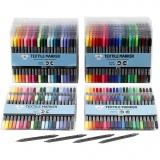 Stoffmalstifte, Standard-Farben, Zusätzliche Farben, Strichstärke 2,3+3,6 mm, 24x20 Stck./ 1 Pck.