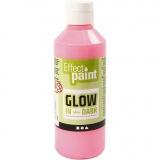Fluoreszierende Farbe, Fluoreszierend Hellrot, 250 ml/ 1 Fl.