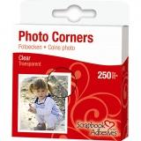 Fotoecken, Transparent, B: 10 mm, 250 Stck./ 1 Pck.